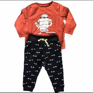 Gymboree set with glow-in-dark pants and Mummy top